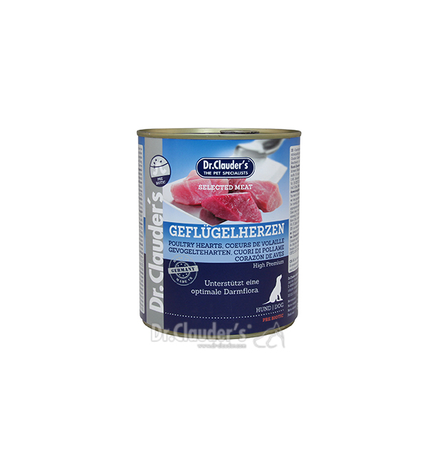 Dr. Clauder Selected Meat Geflügelherzen 800g