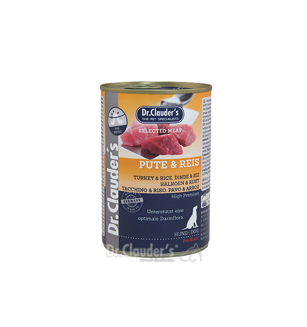 Dr. Clauder Selected Meat Pute&Reis 400g