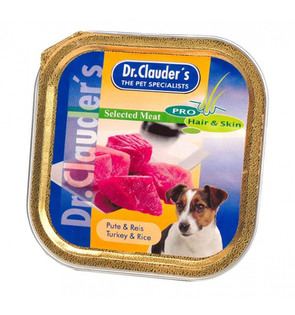 Dr. Clauder Selected Meat Pute & Reis 100g (Schälchen)