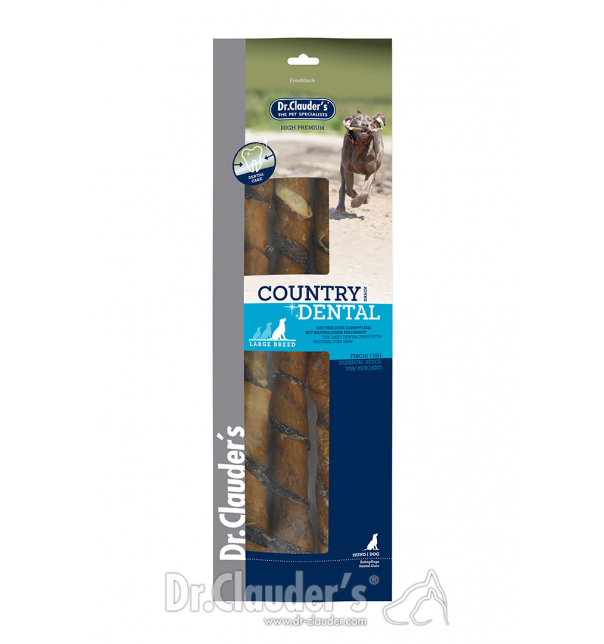 Country Line Dental Snack Fishskin large breed 270g
