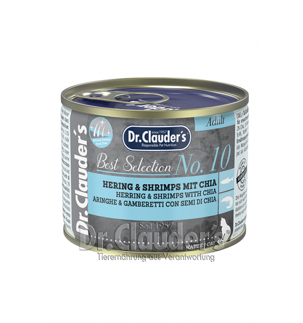Best Selection No 10 Hering & Shrimps mit Chia (Dose) 200g